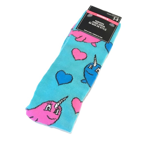 4bfe0de8e4a76 Greenbrier International Accessories | Narwhal Knee High Socks Size ...